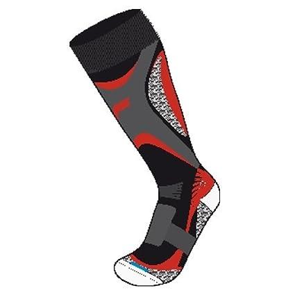Fuse Skiing Tec A100 Woman Black/Red – Calcetines de esquí para mujer, color