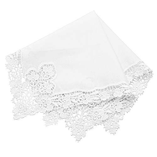 Milesky Bridal Wedding Crochet Lace Handkerchief premium 60S Cotton CH08