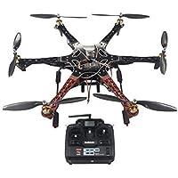 QWinOut F550 RC Hexacopter Drone Aerial FPV ARF Upgrade Kit: QQ SUPER Multi-rotor Flight Control+ Hexa-rotor Air Frame+ Brushless Motor+ Brushless ESC+ Radio Control System+ Landing Skid+ Skid-proof Sponge Foam