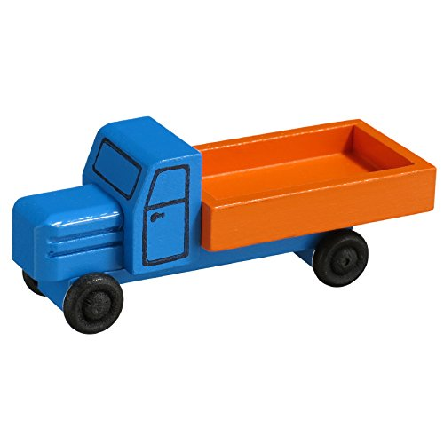 Rudolphs Schatzkiste Lorry with flatbed 7.5cm Wood wooden car Ore Mountains NEW (Wood Ore Car)