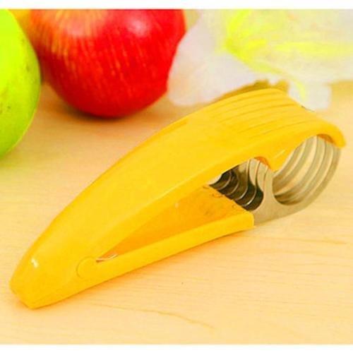 1PC Random Color Stainless Sausage Banana Slicer Fruit Cutter Cucumber Chopper