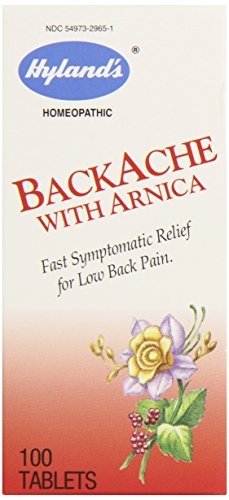 Hyland's BackAche with Arnica Tablets, Natural Relief of Lower Back Pain, 100 Count