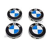 BMW Wheel Center Hub Caps 68MM with Emblem Set of 4 Fits Most Models
