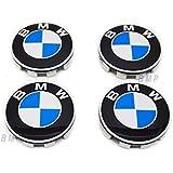 BMW Wheel Center hub Caps w / Emblems (SET 4) for e36 e38 e39 e46 e53 e60 e61 e63 e64 e65 e66 e70 e71 e72 e82 e83 e85 e86 e88 e89 e90 e91 e92 e93 f01 f02 f07