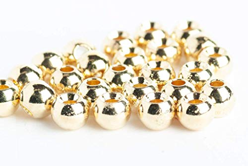 """TUNGSTEN SLOTTED DISCO FLY TYING BEADS GOLD 2.0 MM 5//64 /"""" 100 COUNT"""
