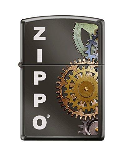 Zippo Gears Black Ice Windproof Pocket Lighter NEW by Zippo