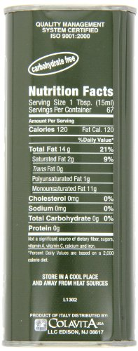 Colavita Extra Virgin Olive Oil, 34-Ounce Tins (Pack of 2) by Colavita (Image #1)