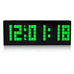 I-MART Large Big Number Digital Led Clock/Wall Alarm/Digital Calendar/Count Down Timer (Green)
