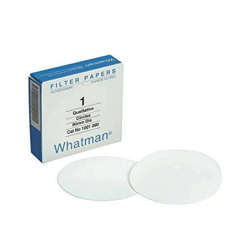 Whatman 1001150-DS Qualitative Filter Paper Circles, 11 Micron, 10.5 s/100mL/sq. inch Flow Rate, Grade 1, 150 mm Diameter (Pack of 100) by Whatman (Image #1)'