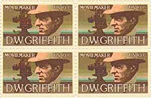 D. W. Griffith Set of 4 x 10 Cent US Postage Stamps NEW Scot 1555 by USPS; US Post Office Dept; US Stamps