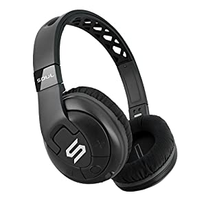 SOUL Electronics SX31BK X-TRA Performance Bluetooth 4.0 Wireless Over-Ear Headphones for Sports. 24 Hours Playtime for Running and Workout and GYM. Support Apple iPhone and Android