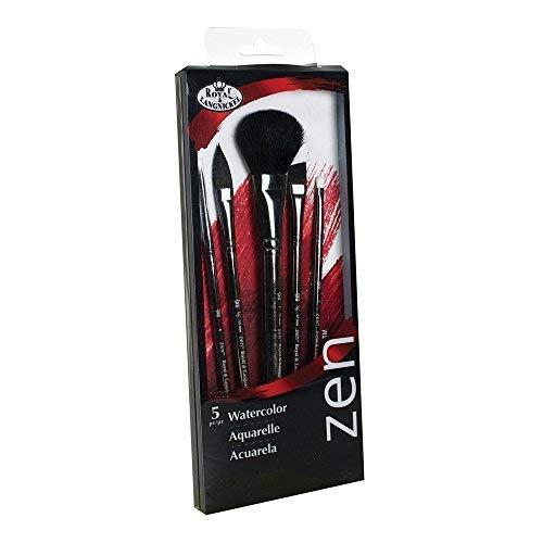 Royal /& Langnickel Zen 5 Piece Watercolour Mop Variety Paint Brush Set