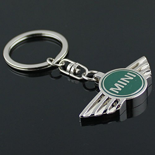 mini-cooper-3d-metal-logo-car-key-chain-ring-marked-model-keychain-green