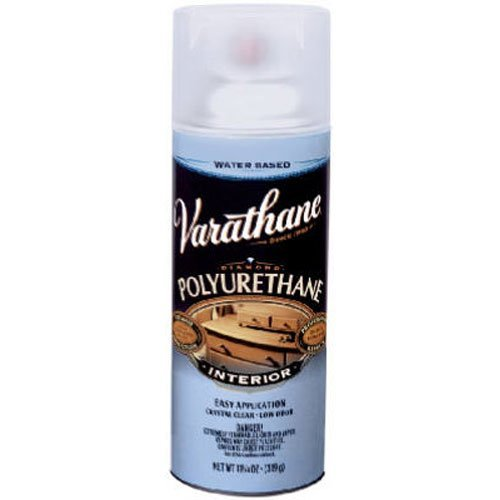 Rust-Oleum Varathane 200281 Interior Crystal Clear Polyurethane Water-Based Spray, Satin Finish (Clear Satin Spray Paint)