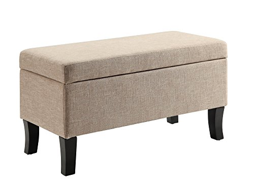 Convenience Concepts Designs4Comfort Winslow Storage Ottoman Tan Fabric (Furnishings Homemade)