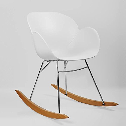 Kline Beechwood Rocking Chair - White by Torre & Tagus