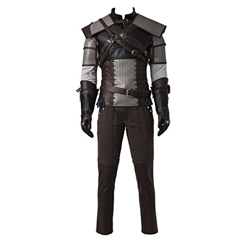 [CosplayDiy Men's Suit for The Witcher 3 Wild Hunt Geralt of Rivia Cosplay XL] (Geralt Witcher 3 Costume)