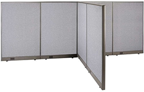 GOF T-Shaped Freestanding Partition 72d x 144w x 60h / Office, Room Divider by GOF