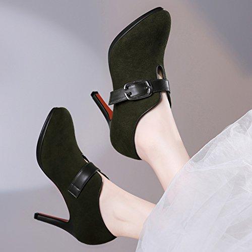 Lavoro Da colore Verde Single Donna 37 Scuro Scarpe Shoes Shallow Hwf Scuro Spillo Dimensioni Mouth Tacchi A zU4yqvg7p