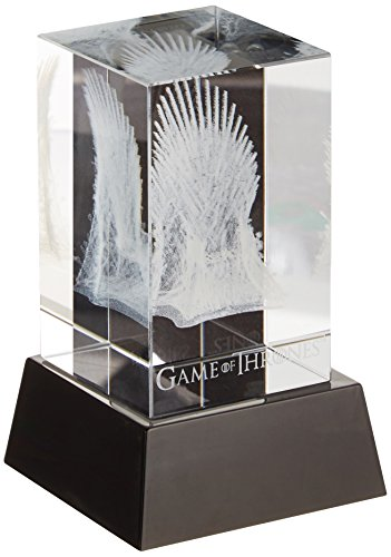 Dark Horse Deluxe Game of Thrones: 3D Crystal Iron Throne with Illumination Base Statue