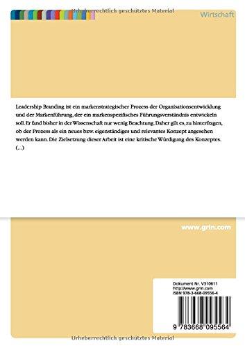 Leadership Branding Eine Kritische Würdigung Der Strategie Zur