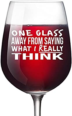 Glass Unique Wine Gifts Women Birthday For Men Wife Girlfriend Sister Boss Best Friend BFF Coworker Or Daughter