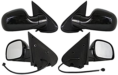 NEW DOOR MIRROR PAIR FITS CHRYSLER 01-07 TOWN & COUNTRY DODGE CARAVAN POWER W/O HEAT 4857876AC CH1321204 4857876AC (Dodge Caravan Door Accessories)