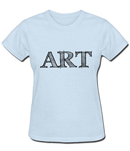ReRabbit art T Shirt For women S skyBlue by ReRabbit