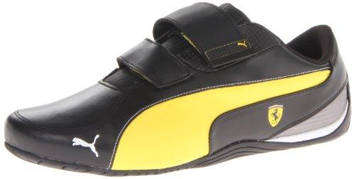 PUMA Men's Drift Cat 5 Ferrari AC NM Motorsport Shoe,Black/Vibrant Yellow,11 M - Ferrari Black Yellow And
