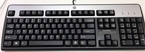 HP 435302-001 KB-0316 104 Key Black Silver PS2 Keyboard (Certified Refurbished) 104 Key Ps2 Keyboard