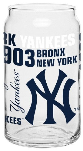 Baseball Spirit Can Style Drinking Glass (New York Yankees Beer)