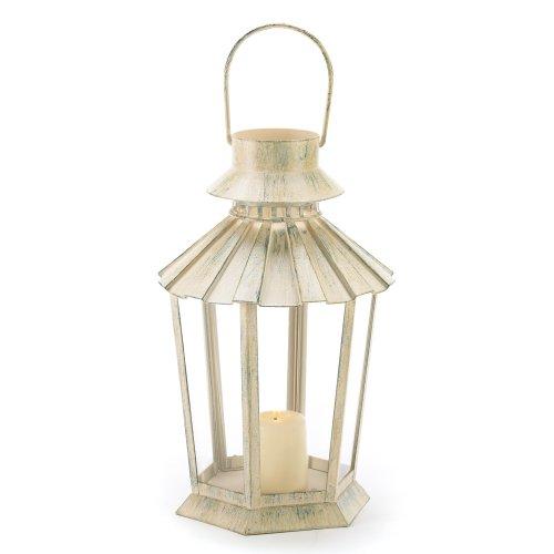 Fluted Pillar Candle (Gifts & Decor Graceful Garden Lantern Light Candle Holder Centerpiece)