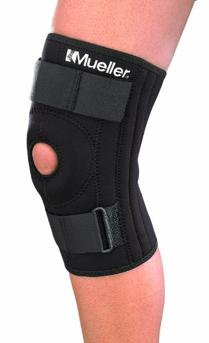 Mueller Sports Medicine Patella Stabilizer Knee Brace, Medium, Black, 1-Count Package