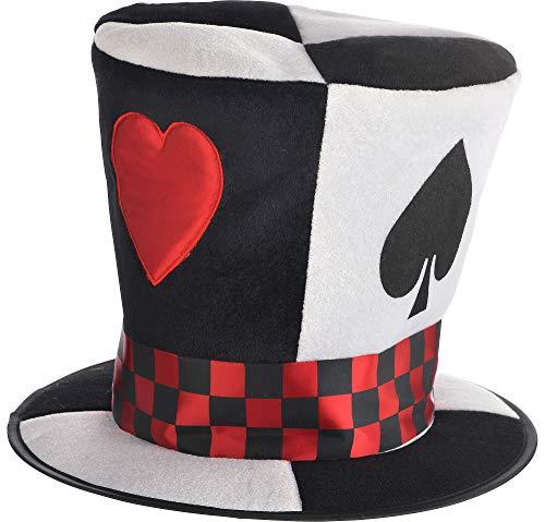 Gambling Man Halloween Costumes - AMSCAN Poker Card Top Hat Halloween
