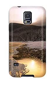 Hot Design Premium BgnzWsk2088Wqvbr Tpu Case Cover Galaxy S5 Protection Case(snow S)