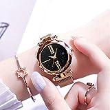 Ocamo Luxury Starry Sky Quartz Watch Magnet Strap Buckle Stainless Watch Women Gift Rose Gold