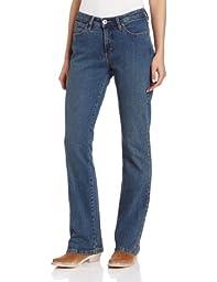 Wrangler Women\'s Aura Instantly Slimming Jean,  Tinted Mid-Stone, 12 Avg