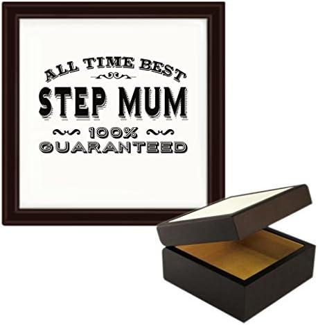 All Time MEJOR Step mum 100% GARANTIZADA Diseño Madera Joyería Caja de la Baratija: Amazon.es: Hogar
