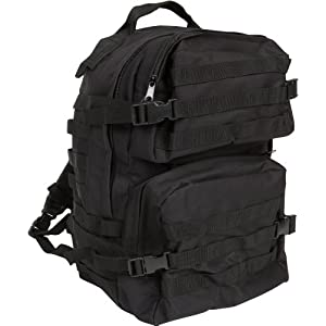 "18.5"" Tactical Military Style Trekking Backpack and Daypack By Modern Warrior (Black)"