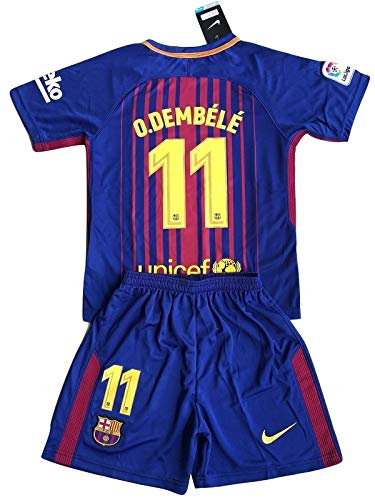 a7323b01f Gadzhinski O.Dembele #11 FC Barcelona Youths Home Soccer Jersey & Shorts (9-10  Years Old) (7-8 Years Old)