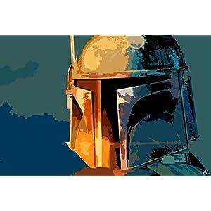 Boba Fett Mandalorian Bounty Hunter Star Wars Pop Art #1 Poster Print (11×17 inches)