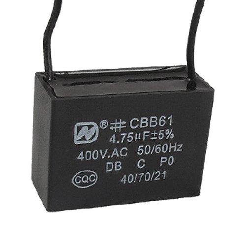 4750nF 4.75uF 400VAC 50/60Hz 2 Wire Fan Capacitor CBB61