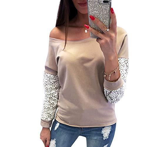 Xinantime Veste hiver V Chemise en shirt Pour Longues chaude Sweat en Manches Tops col Dentelle Femmes Avec Kaki Chemise Femmes Automne qx6HE11