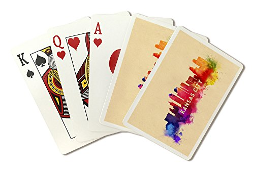 (Kansas City, Missouri - Skyline Abstract (Playing Card Deck - 52 Card Poker Size with)