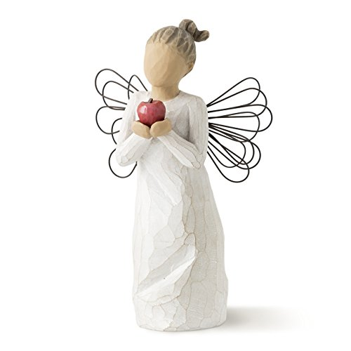 Best Teacher Apple - Willow Tree You're The Best! Angel, sculpted hand-painted figure