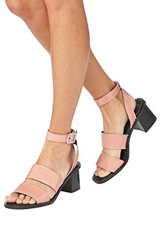 next Mujer Sandalias efecto tachuelas Corte Regular Rosa