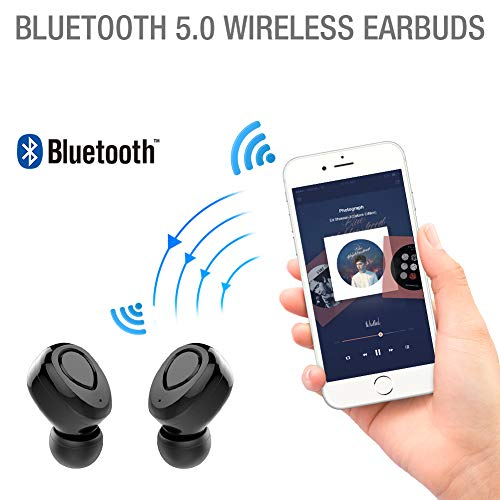 Wireless Earbuds,TNSO True Wireless Bluetooth Earbuds 15H Playtime 3D Stereo Sound,Built-in Microphone,Sweatproof in-Ear Earphones with Portable Charging Case by TNSO (Image #2)