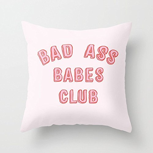 Rdsfhsp Bad Ass Babes Club Cushion Covers Throw Pillow Covers For Decorating Sofa Car Bedroom Etc Or Gifts Cotton 26x26 In