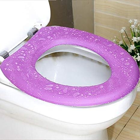 41 * 38 /r/éutilisable Chaud Pad Outtybrave 1/pcs pour abattant/ EVA Violet DE Salle DE Bain Chaud EVA /étanche Coussin de si/ège de Toilette