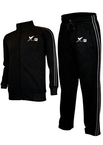 Uniforme X-2 de Hombre, Chaqueta con capucha y Mono, Color Negro, Activewear